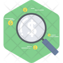 Market Search Data Analysis Business Performance Icon