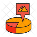 Market Share Pie Chart Analytics Icon