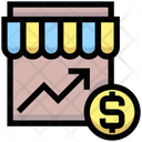 Market Trade Graph Market Growth Graph Growth Graph Icon