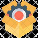 Cardbox Gearwheel Marketing Icon