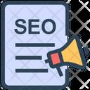 Seo Document Marketing Icon