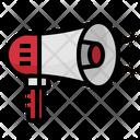 Bullhorn Megaphone Prototion Icon