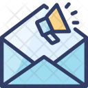 Marketing Email Loudspeaker Icon
