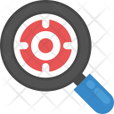 Magnifier Target Marketing Icon