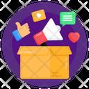 Media Box Marketing Box Social Media Promotion Icon