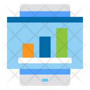 Mobile Website Growth Graph Icon