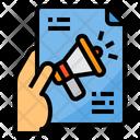 Hand Advertisment Marketing Icon
