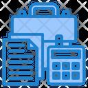 Marketing Files File Calculator Icon