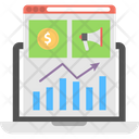 Marketing Graph Online Graph Internet Marketing Analysis Icon