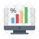 Marketing Graph Report Icon