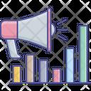 Marketing Bar Chart Megaphone Icon