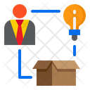 Marketing Business Man Package Icon