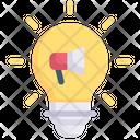 Marketing Idea Creativity Light Bulb Icon