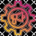 Megaphone Gear Announcement Icon