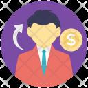 Man Salesman Finance Icon