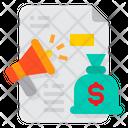 Megaphone Marketing Strategy Icon