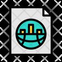 Marketing Report Business Report Data Analytics Icon