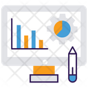 Graphic Designing Growth Analysis Market Research Icon