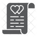 Marriage Contract Document Icon