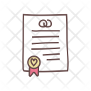 Certificate Marriage Contract Icon