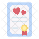Certificate Agreement Wedding Icon