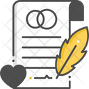 Marriage Certificate Icon