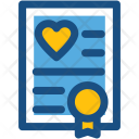 Marriage Certificate Heart Icon