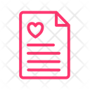 Marriage Certification Agreement Document Icon