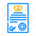 Marriage Contract Wedding Contract Marriage Icon