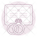 Marriage License Marriage Certificate Marriage Rings Icon
