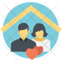 Married Couple Happy Icon