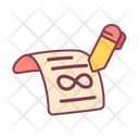 Forever License Certificate Icon