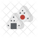Marshmallow Onigiri Japan Icon