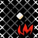 Marshmallow Fire Bonfire Icon