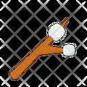 Marshmellow Campfire Wildfire Icon
