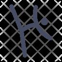 Martial Arts Gymnastic Icon