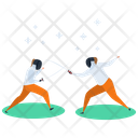 Martial Art Combat Exercise Icon