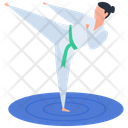 Martial Art Combat Exercise Icon