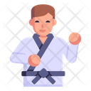 Karate Martial Arts Fighter Icon