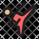 Martial Arts Kick Icon