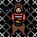 Mascot Bear Puppet Icon