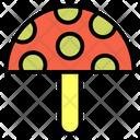 Mashroom Autumn Food Icon