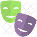 Masks Theatre Disguise Icon
