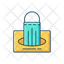 Mask Box Filled Icon