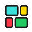 Masonry Justified Grid Icon