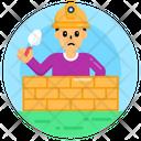 Child Labour Masonry Work Labour Work Icon