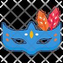 Mask Masquerade Bohemians Party Carnival Festival Icon