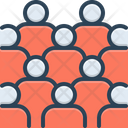 Mass Collective Crowd Icon