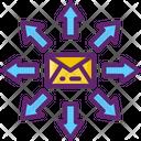 Mass Mailing Bulk Mailing Direct Mail Icon