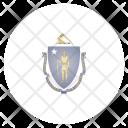 Massachusetts Us State Icon